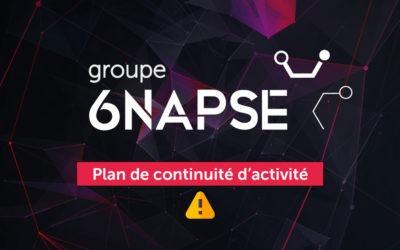 COVID-19 : Le Groupe 6NAPSE se mobilise pour assurer la continuité de ses activités