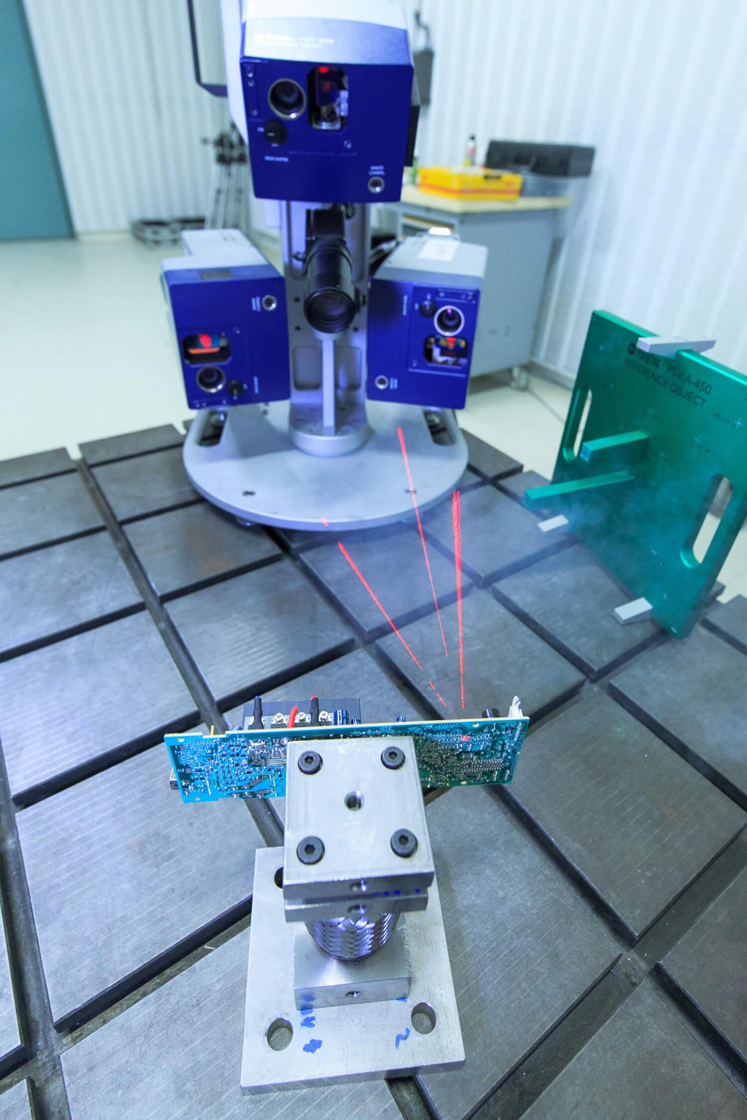 Vibromètre à balayage laser 3D