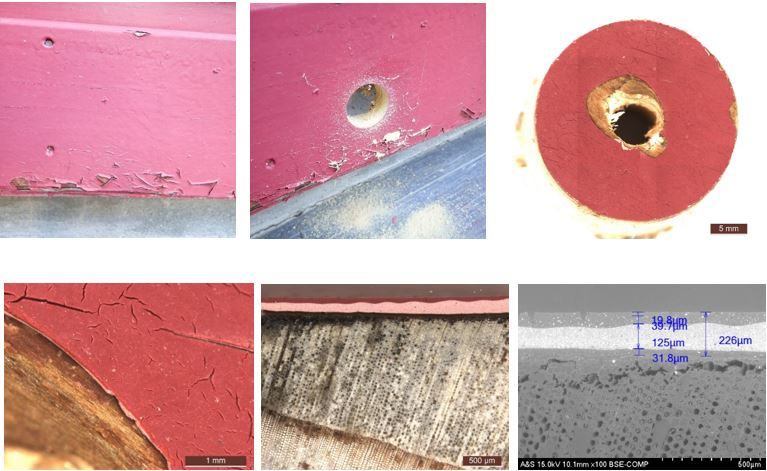 écaillage peinture alkyle fissuration farinage bois